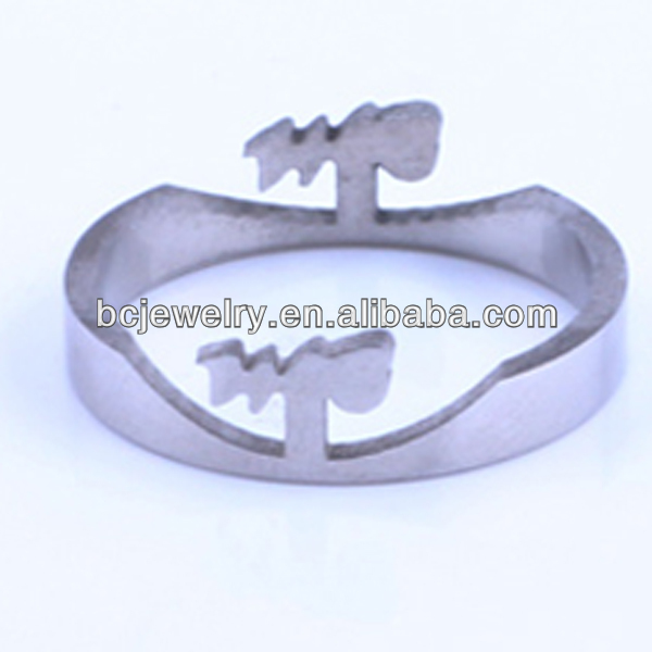 Bulk cheap fashion stainless steel jewelry wholesale models white gold slave ring
