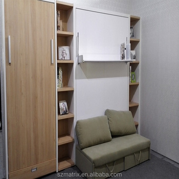 hidden bed furniture. Hidden Wall Bed With Sofa,save Space Bedroom Furniture Murphy