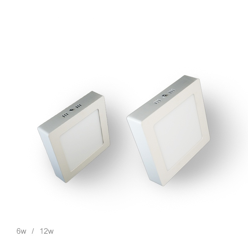 Square Surface Mounted LED panel light 6W 12W 18W 24W 180 Degree SMD2835 AC85-265V LED Ceiling Lights with driver