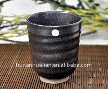 7oz Ceramic Mug No Handle Black Color Stripe Design Without Coffee Product On Alibaba