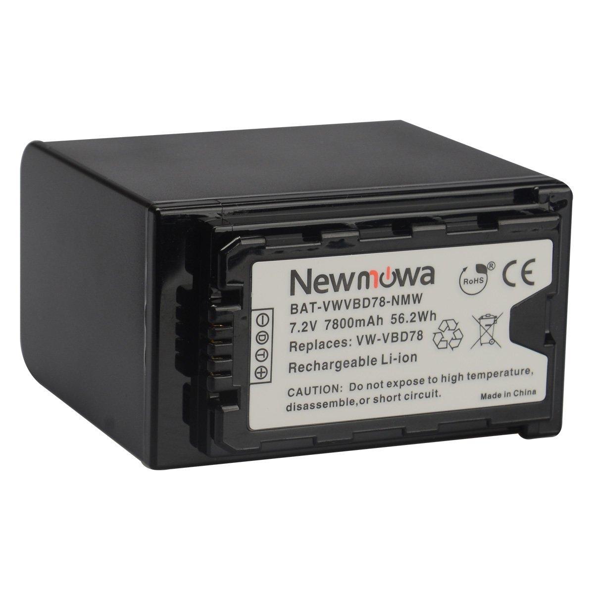 Newmowa VW-VBD78 Rechargeable Li-ion Battery for Panasonic VW-VBD58, VW-VBD78 and Panasonic AJ-PX270,AJ-PX298,AJ-PX298MC,HC-MDH2,HC-MDH2GK,HC-MDH2GK-K,HC-MDH2M,AG-FC100MC,AG-DVX200MC