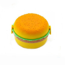 Dubbele Tier Kinderen <span class=keywords><strong>Hamburger</strong></span> Bento Lunchbox Voedsel <span class=keywords><strong>Container</strong></span> Opbergdoos