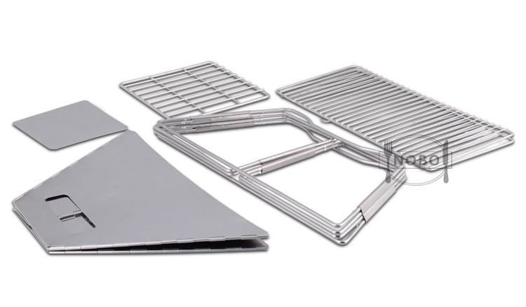 Easy Cleanup Foldable Set Barbecue Stainless Steel Charcoal Japanese  BBQ Grill for Indoor and Outdoor