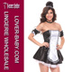 New Valentine Naughty French Maid Exotic Costume Clothing Sexy Lingerie Uniform Dress