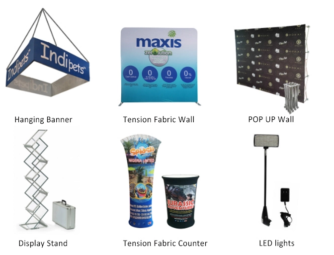 Standard Size Straight Tension Fabric Portable Quick Install Advertising Exhibition 6x9