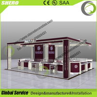 Professional customized high quality wooden glass jewelry display kiosk for shopping mall