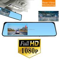 4.3 inch screen single lens rear view mirror mini hidden button camera car dv dvr camera