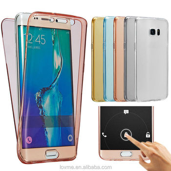 360 Degree Full Body Front Back Clear TPU Case Cover For Samsung Galaxy S7 Edge
