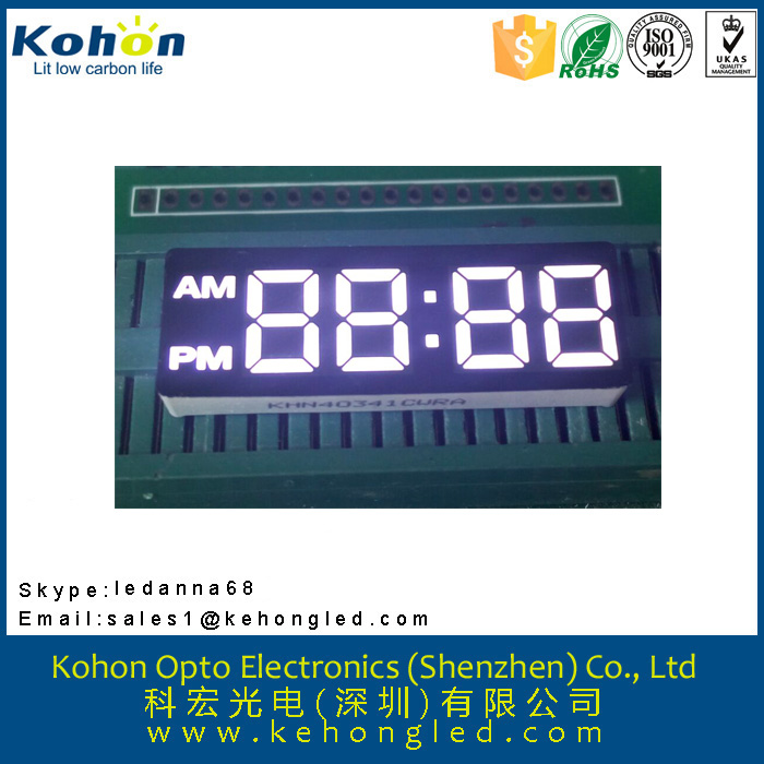 Cheap customized hot sale top quality KHN40341CWRA LED seven segment display