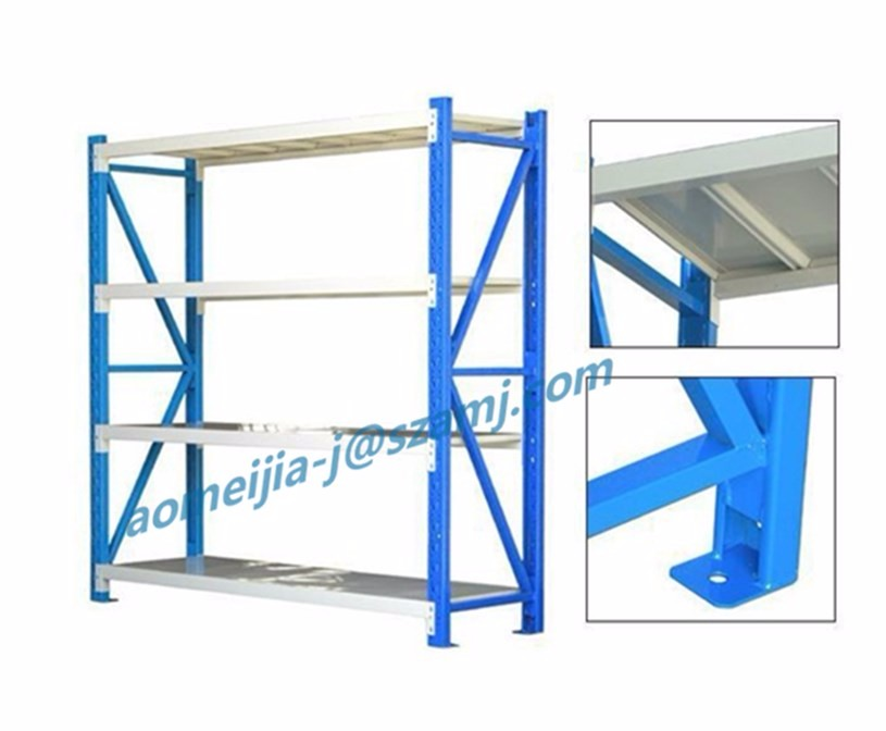NSF CE certificated durable steady frame warehouse storage long span shelf
