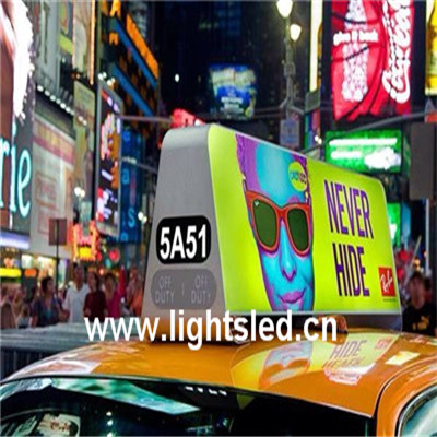 LightS shenzhen alibaba express taxi top led/taxi top led screen/advertising display for car