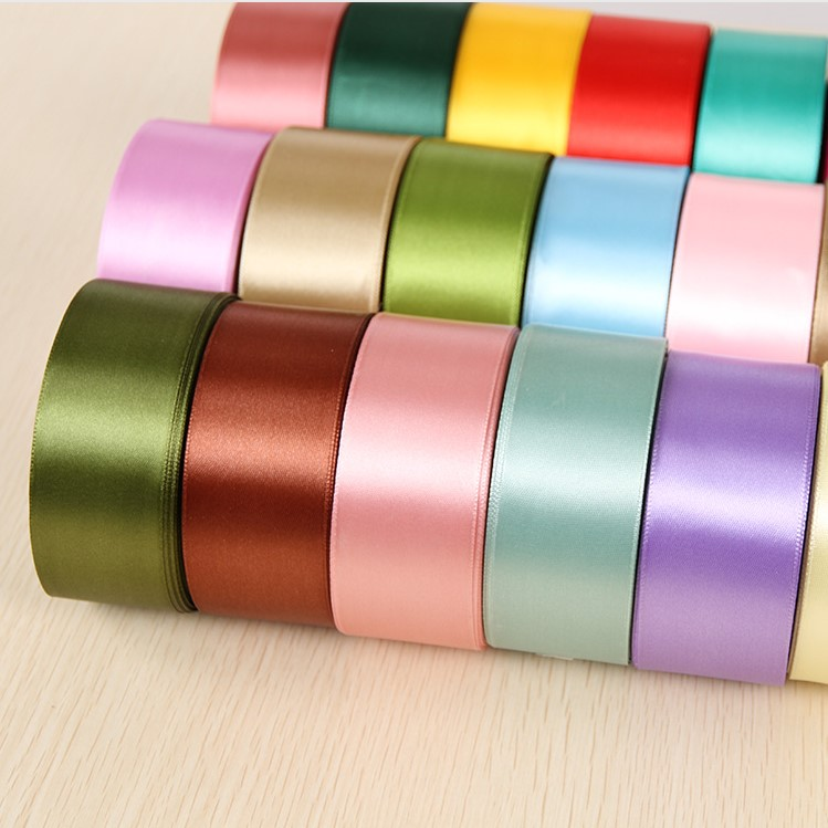 Free Sample Polyester Satin Ribbon 20 미리메터-100 미리메터 Satin Pink Color E447