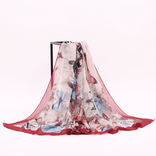 2017 Latest Scarf Designs Gift Viscose Custom Melody Butterfly Designer Scarf