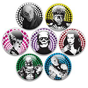 Decorative Push Pins 7 Small Classic Monsters