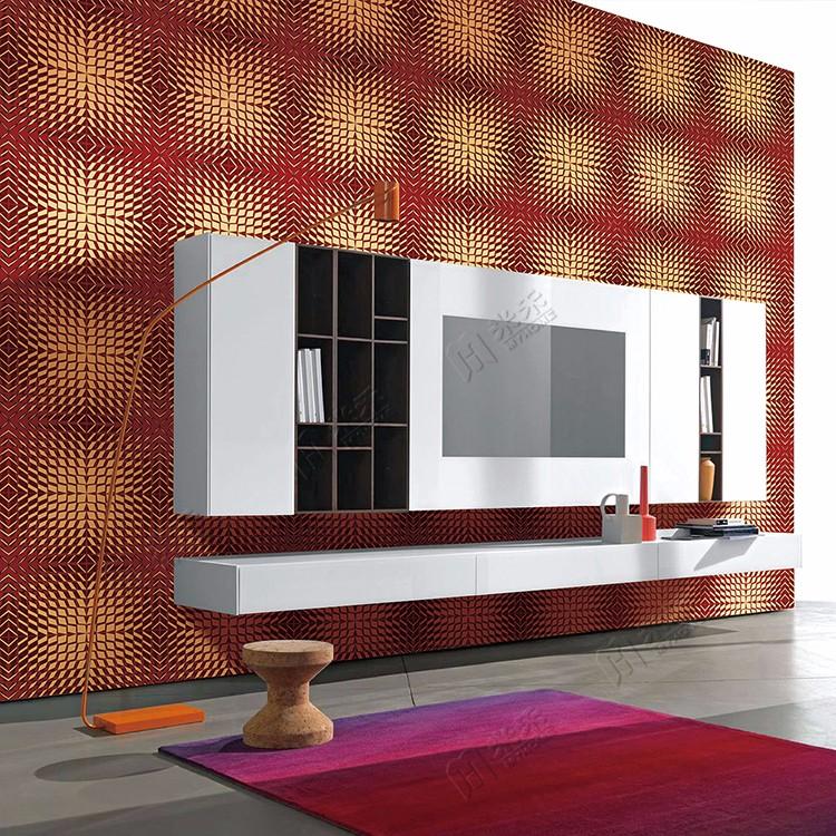 New 4d Cool Style Ktv / Tv Background Wall Decor 3d Room Wallpaper ...