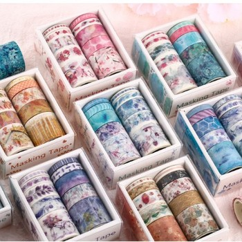 Cute Washi Tape Set Different Designs About Floral Japanese Pastel  Decorative Masking Tape