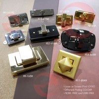 For Bag Case Luggage USE or Nickel Free Rectangle Twist Turn Lock
