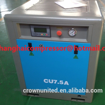 7.5kw 10hp high efficiency electric screw air compressor, oil flooded