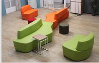 orange leather sectional sofa luxury leather executive office sofa