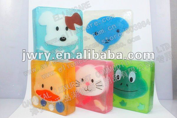 100g cute animal shaped transparent soap