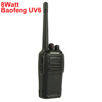 Cheap Talkie Walkie 8W 128CH Dual Band 136-174+400-520MHz UHF VHF Talkie Walkie Baofeng UV-6 UV6
