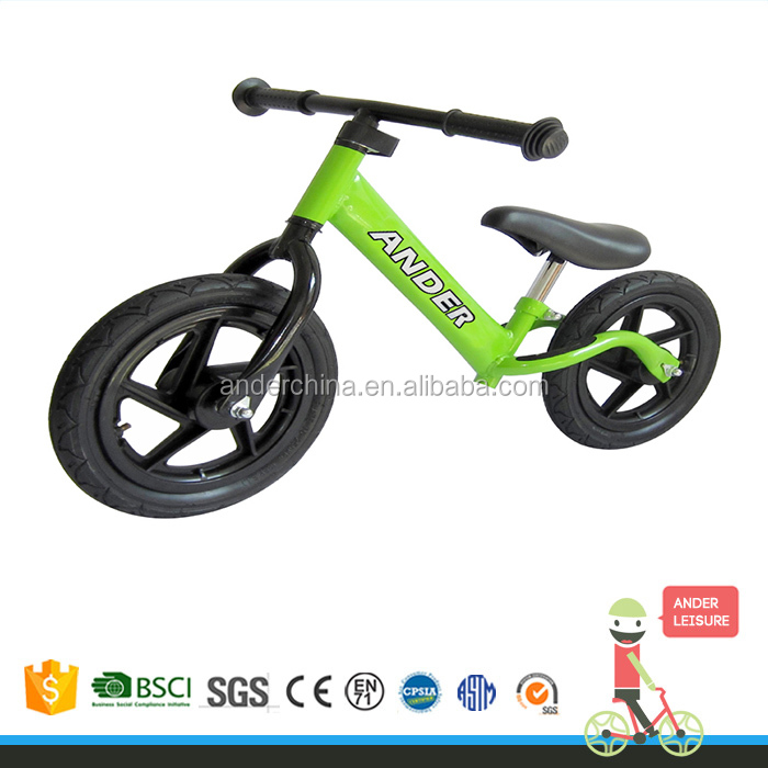 "ANDER 2016 balance bike for kids 12"" air tire with plastic rim bikes"