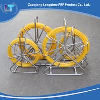 6MM Yellow Fiberglass Flexible Pull Push Duct Cavity Snake Cable Rods/ Continous duct rodder/ Fiberglass snake rod