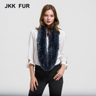 New 2018 Real Fur Scarf Rex Rabbit Thick Knitted Women Winter Warm Scarves Wholesale / Retail