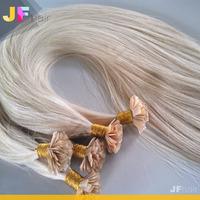 Tangle Free 1.0g 0.8g Italian Keratin Hair Virgin Remy Prebond Flat Tip Hair