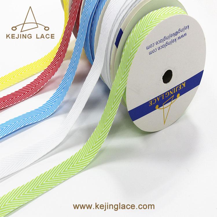 cotton twill herringbone webbing ribbon trims for clothing