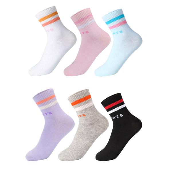 Colorful Popular Rib Wholesale Custom Cotton Women Socks Tube