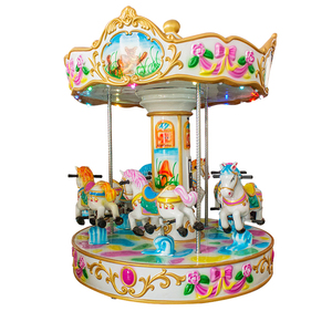 Kids plastic carousel ride mini small indoor carousel for sale