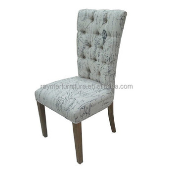 French Style Fabric Upholstered Button Tufted Restaurant Dining Chairs Buy