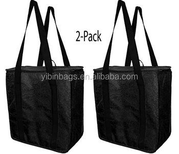 China factory wholesale Reusable Large Oxford Cloth Thermal Cooler Bag insulated wine tote bag