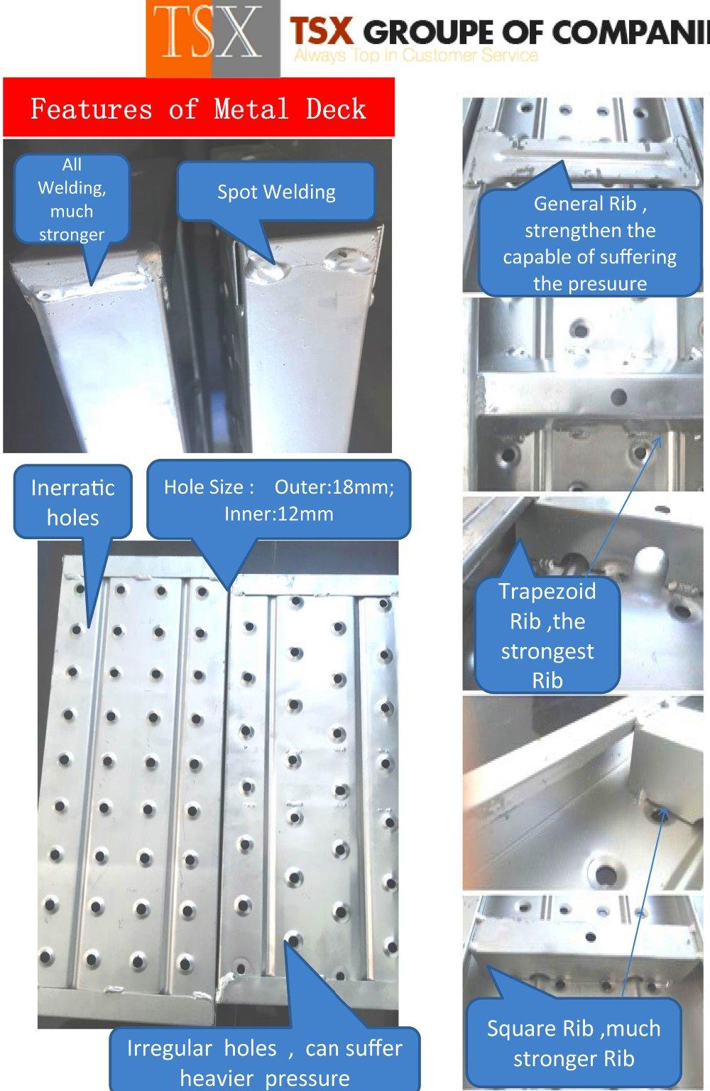 Scaffolding Steel Suppliers : China supplier tsx d scaffold steel plank walk board