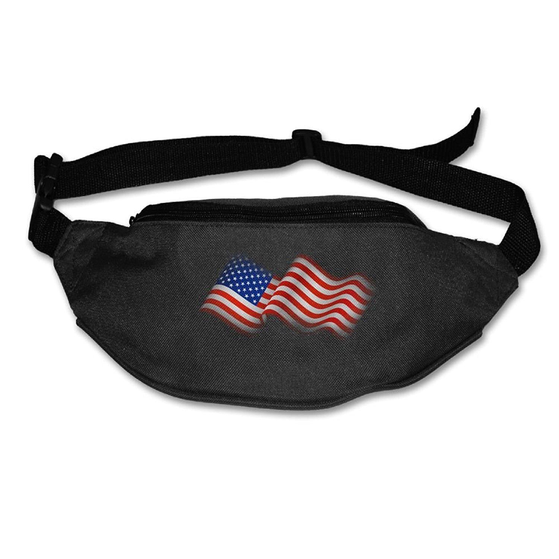 Heard Me Unisex American Flag USA Flag Fanny Pack Waist Packs Phone Holder Adjustable Running Belt For Cycling,Hiking,Gym