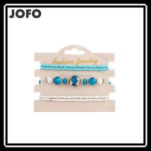 2017 New Hot Selling Fashion Boho Seed Bead Bracelet Set