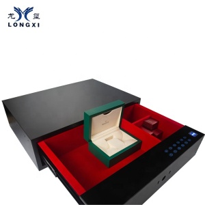 electronic safety box in hotel black color room metal deposit box home hidden box drawer hidden safe
