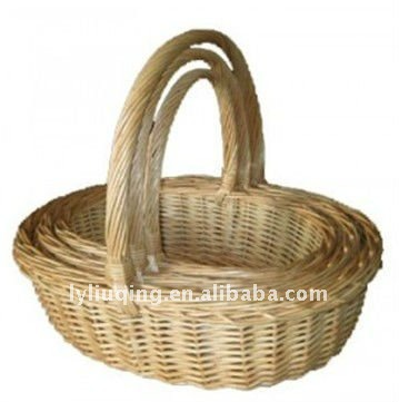 set of 3 hand woven willow basket
