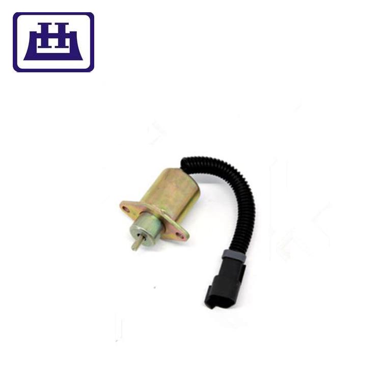 12V Fuel Shutoff Solenoid 172-7209 2848A278 for Caterpillar CAT 232 262 252 242 906 257 277 267 287 247