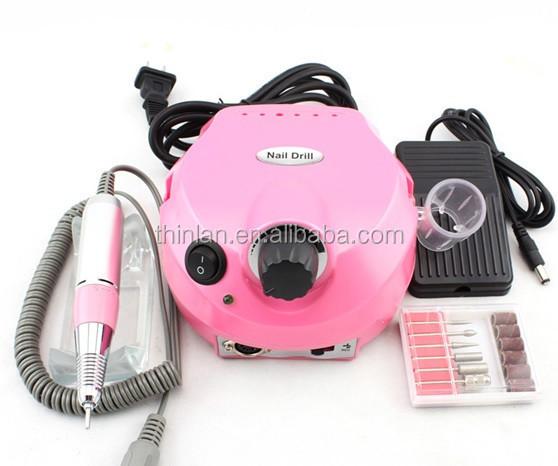 Pink Black White Nail Drill Machine 35000rpm Nail Master Glazing Machine Nail Drill Bits Ceramic Pedicure Manicure Tool