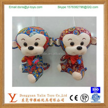 chinese new year monkey lovely red toys monkey for sale