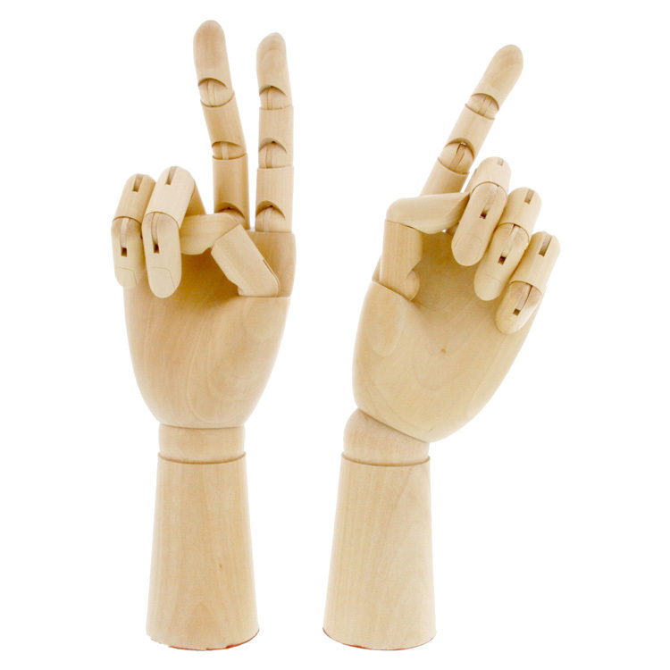 E375 18 x 6cm Modelo de maniqui de mano derecha articulado de madera Regalo Arte