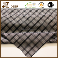 Yarn Dyed Polyester Fabric Colored Check Suit Lining fabric