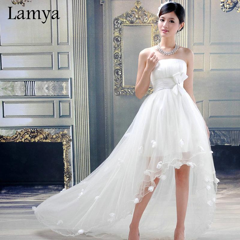Best Wedding Gowns For Short Brides: Aliexpress.com : Buy Customize High Low Short Beach