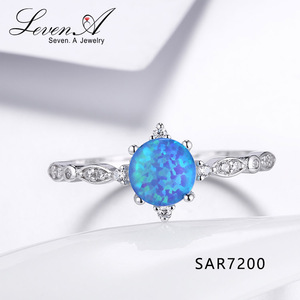 Sevenajewelry SAR7200 Fashion jewelry 925 silver diamond engagement ring+3a cz white gold plated opal rings