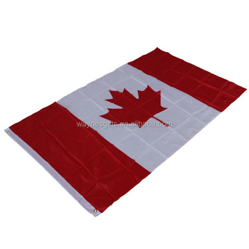 Top quality professional national country polyester flag canada