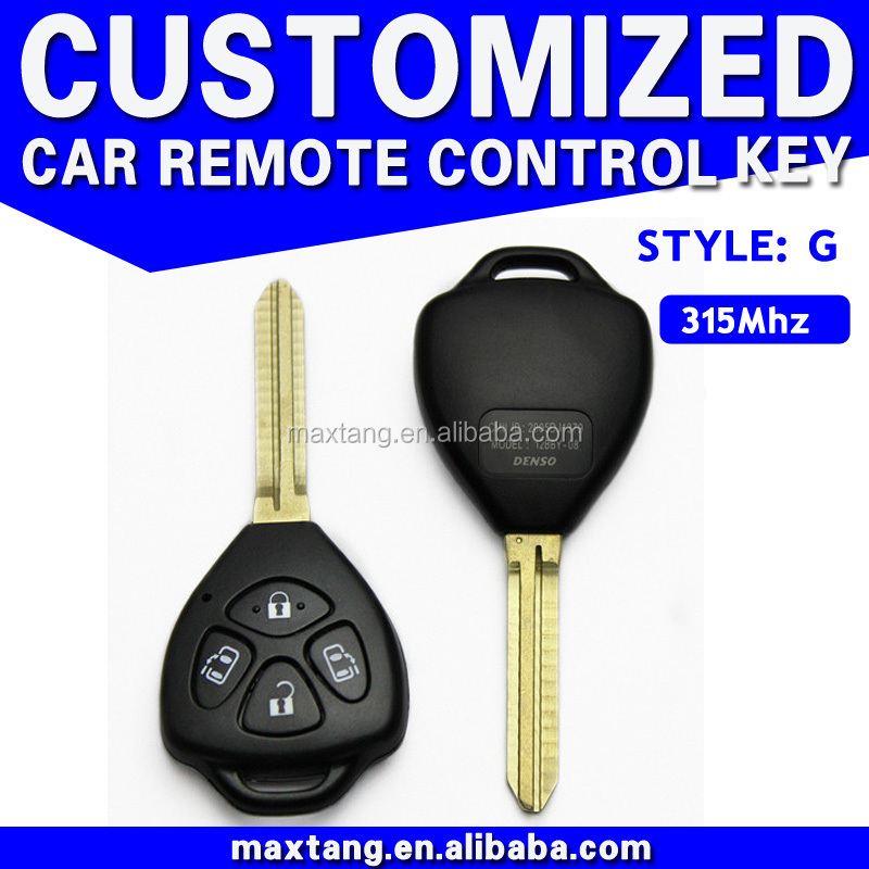 New Keyless Entry 4 Button Car Key For Toyota 315Mhz 4D MTF-100819