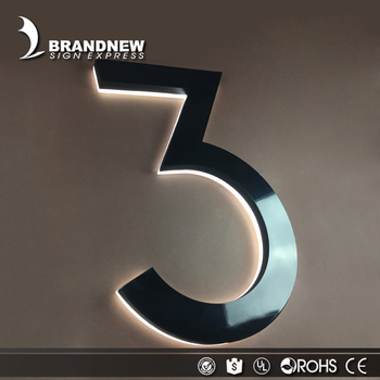 fabricated indoor company led metal sign stainless steel letters and numbers