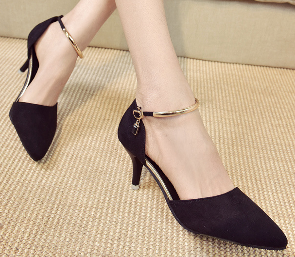Sexy women wholesale shoes pointed thin heel office ladies high-heeled shoes